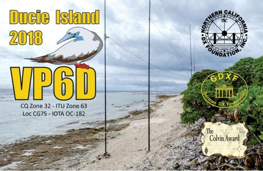 QSL preview – VP6D, VP6D/MM