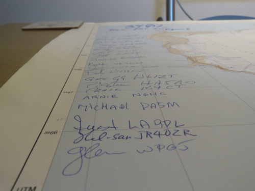 Signed map by 3Y0Z team