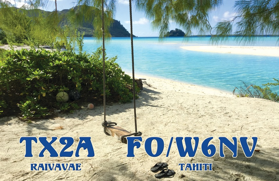 QSL preview – TX2A & FO/W6NV