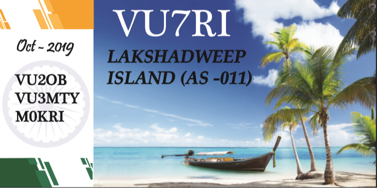 VU7RI – Lakshadweep Islands