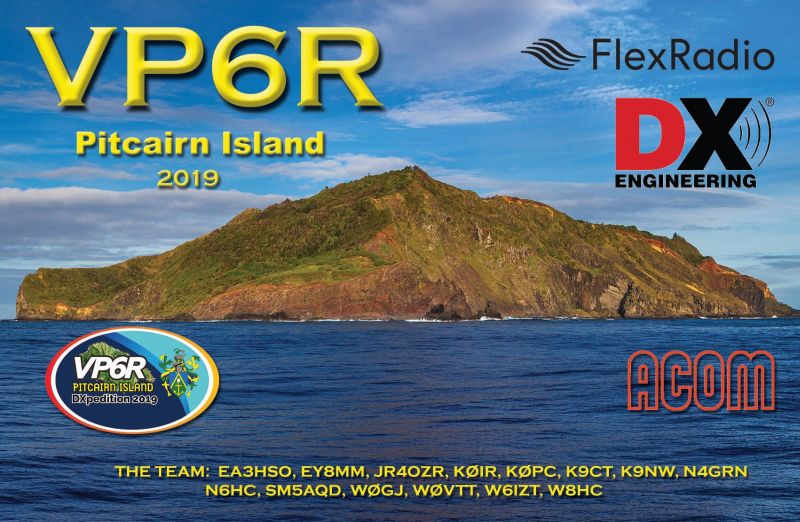 QSL preview – VP6R