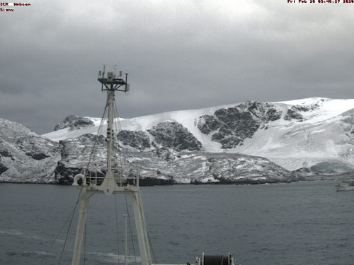 Braveheart captured on JCR ship webcam at South Orkney